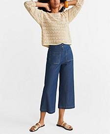 Seam-Detail Culotte Trousers