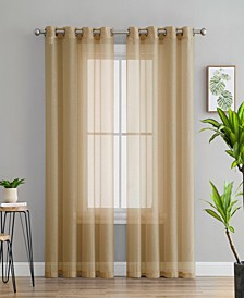 Lumino by Perth Semi Sheer Grommet Curtain Panels - 54 W x 84 L - Set of 2