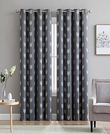 Obscura by Brisbane Print Blackout Grommet Curtain Panels - 52 W x 63 L - Set of 2