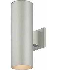 LED 2-Light Cylinder Wall Sconce