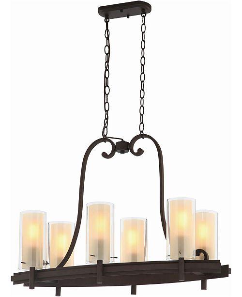Volume Lighting Regina 6-Light Hanging Linear Island Chandelier