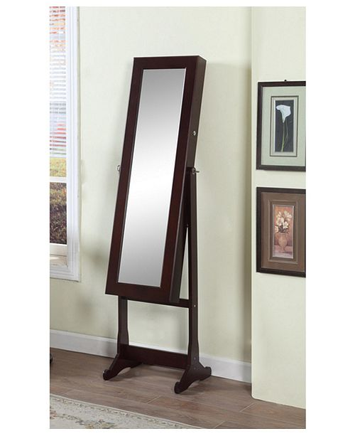 Artiva USA Floor Standing Mirror and Jewelry Armoire with ...