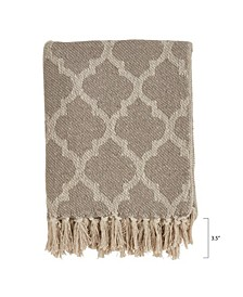 Moroccan Tile Design Throw