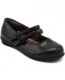 Big Girls Mary Jane Flat Shoe