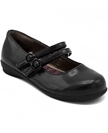 French Toast Little and Big Girls Mary Jane Flat Shoe