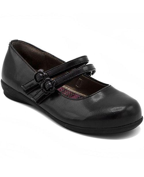 French Toast Little and Big Girls Mary Jane Flat Shoe