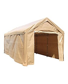 Heavy Duty Outdoor Gazebo Carport Canopy Tent with Sidewalls - OVER MAX
