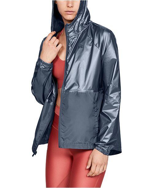 Under Armour Women's UA Storm Metallic Hooded Jacket