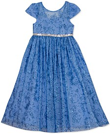 Little Girls Embellished Glitter Dress