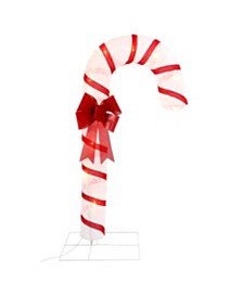 Sterling 72-Inch-High, Lighted Snowflake Fabric Lantern Candy Cane