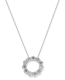 "Diamond Circle 18"" Pendant Necklace (2-1/10 ct. t.w.) in 14k White Gold"