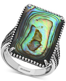 EFFY® Abalone Beaded Statement Ring in Sterling Silver