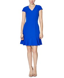 Betsey Johnson Ruffle-Hem Dress