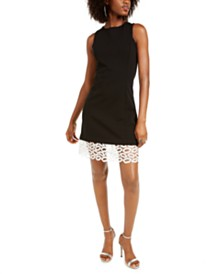 Betsey Johnson Petite Lip-Lace Sheath Dress