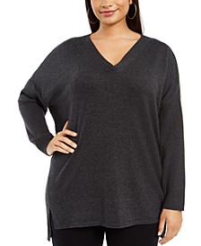 Plus Size V-Neck Sweater, Created For Macy's