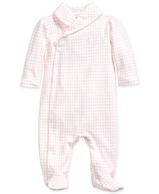 Polo Ralph Lauren Baby Girls Printed Interlock Shawl One Piece