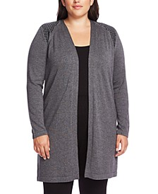 Plus Size Studded Cardigan