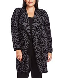 Plus Size Cheetah-Print Cardigan