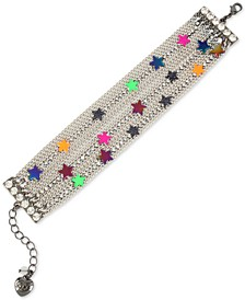 Multi-Tone Neon Star Multi-Row Chain Bracelet