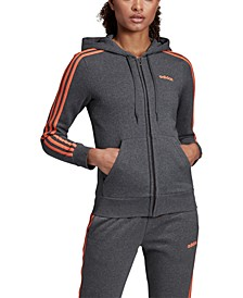 Women's Essential Fleece 3-Stripe Zip Hoodie