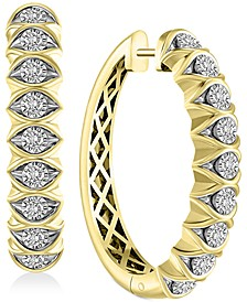 Diamond Hoop Earrings (1 ct. t.w.) in 14k Gold