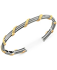 Two-Tone Cuff Bracelet in Sterling Silver & Gold-Plate