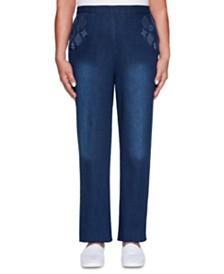 Petite Autumn Harvest Embroidered Jeans