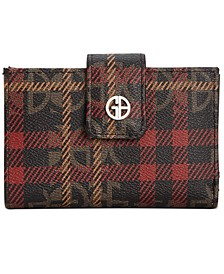 Plaid Block Signature Framed Indexer Wallet, Created For Macy's