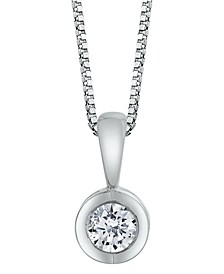 Sirena Diamond (1/10 ct. t.w.) Energy Pendant in 14k White, Yellow or Rose Gold