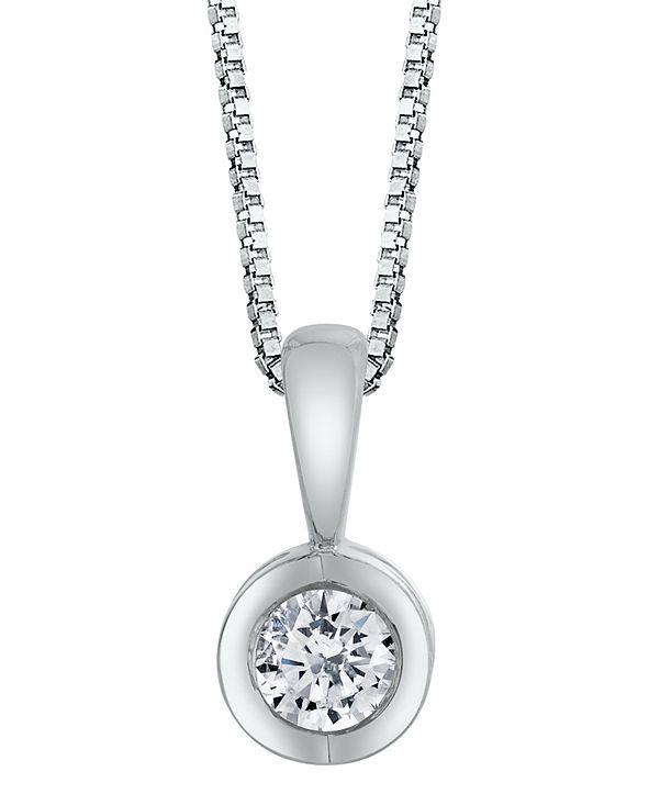Macy's Sirena Diamond (1/10 ct. t.w.) Energy Pendant in 14k White, Yellow or Rose Gold