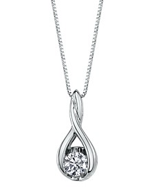Sirena Diamond (1/3 ct. t.w.) Twist Pendant in 14k White Gold