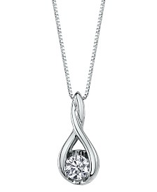 Sirena Diamond (1/3 ct. t.w.) Twist Pendant in 14k White Gold