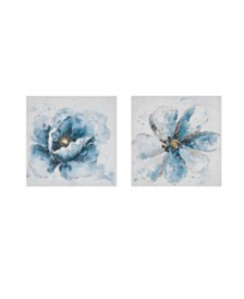 Madison Park Gleaming Blue Florals Printed Canvas 2-Pc Set