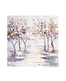 Glistening Wanderwoods Hand Embellished Printed Canvas