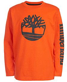 Timberland Little Boys Epsom Orange Logo T-Shirt