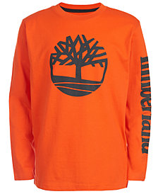 Timberland Big Boys Epsom Orange Logo T-Shirt