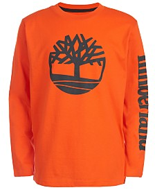 Timberland Big Boys Epsom Orange Logo T-Shirt