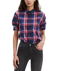 Ultimate Cotton Plaid Button-Back Shirt
