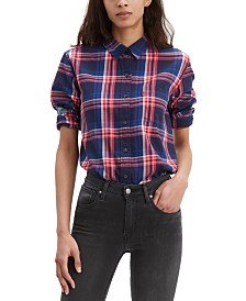 Levi's® Ultimate Cotton Plaid Button-Back Shirt