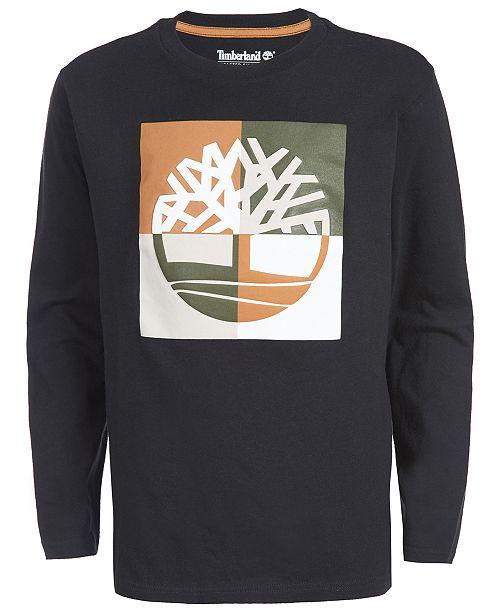 Timberland Big Boys Warren Logo T-Shirt