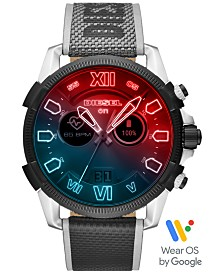 Diesel Tech Men's Full Guard 2.5 Grey Fabric Strap Touchscreen Smart Watch 48mm, Powered by Wear OS by Google™