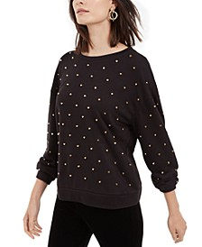 I.N.C. Studded Sweatshirt, Created For Macy's