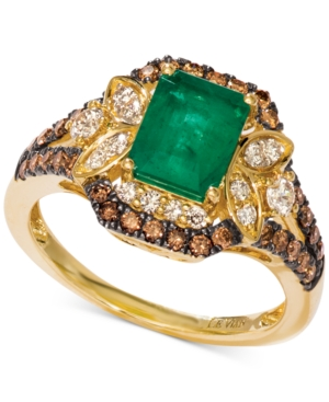 New Emerald (1-1/5 ct. t.w.) & Diamond (3/4 ct. t.w.) Ring set in 14k Gold