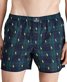 Polo Ralph Lauren Men's All-Over Pony Print Woven Boxers