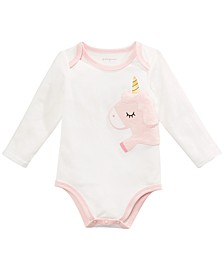 Baby Girls Unicorn Bodysuit, Created For Macy's