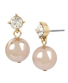 12 mm Pearl Stone Drop Earrings