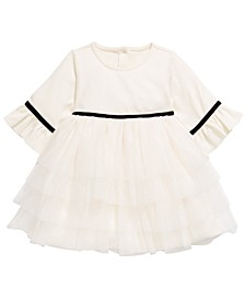 Baby Girls Ruffled Ponté-Knit Dress, Created For Macy's