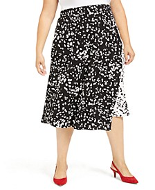 Plus Size Printed Midi Skirt, Created For Macy's
