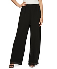 Alex Evenings Chiffon Wide-Leg Pants