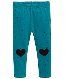 Baby Girls Printed Hearts Leggings, Created for Macy's